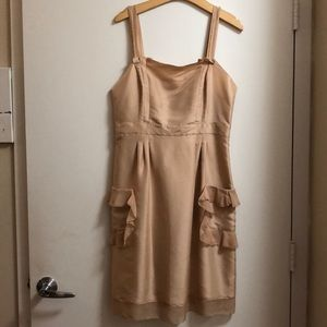 DVF Champagne Silk Dress